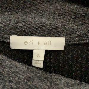 Eri and Ali mock neck waffle knit sweater